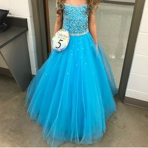 Turquoise Size 6 Girls Tiffany Pageant Dress